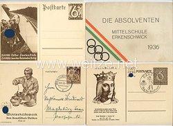 III. Reich - Konvolut von 4 Propaganda-Postkarten