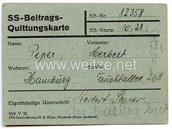 Allgemeine SS - SS-Beitrags-Quittungskarte
