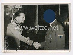 3. Reich Pressefoto: Adolf Hitler und einen Italienischen gesandten