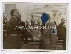 3. Reich Pressefoto: Adolf Hitler und und Reichsaußenminister Ribbentrop