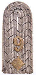 Preußen 1. Weltkrieg Einzel Schulterstück für einen Oberleutnant im Colbergeschen Grenadier-Regiment Graf Gneisenau (2. Pommersches) Nr. 9