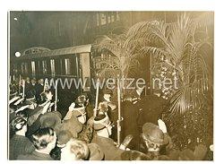 3. Reich Pressefoto: Getöteter DiplomatErnst Eduard vom Rath wird von Paris nach Deutschland gebracht 1938