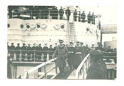 1. Weltkrieg Generalfeldmarschall Hindenburg geht von Bord