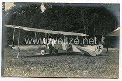 1. Weltkrieg Fliegerei: Foto eines deutschen Flugzeuges