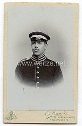 Foto Kaiserliche Marine: Seebataillon kleines Kabinettfoto eines Seesoldaten