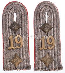 Bayern Paar Schulterstücke für einen Hauptmann im 19. Infanterie-Regiment König Viktor Emanuel III. von Italien