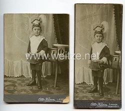 Portraitfotos Deutsches Reich: Kind in Ulanen-Uniform