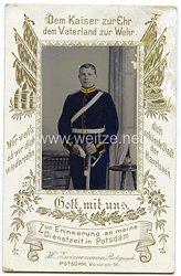 Portraitfoto Deutsches Reich: Angehöriger des 4. Garde Feldartillerie Rgt. ( Reiterabteilung)