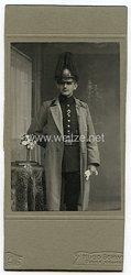 Portraitfoto Deutsches Reich: Angehöriger des Königlichen sächsisches 4. FeldartillerieRgt. 48 Dresden
