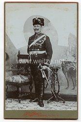 Portraitfoto Deutsches Reich: Angehöriger des Magdeburgisches Husaren Rgt. No 10 Stendal