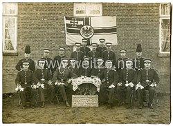 Foto Kaiserliche Marine: Gruppenfoto der 11.Korporalschaftdes II. Stamm-Seebataillon. in Wilhelmshaven