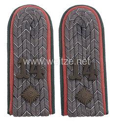Preußen Paar Schulterstücke Feldgrau für einen Oberleutnant der Nachrichten-Ersatz-Abteilung Nr. 14