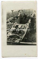 Deutsches Kaiserreich 1. Weltkrieg Foto, zerstörte Feldartillerie
