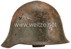 Königreich Bulgarien 2. Weltkrieg Stahlhelm mit 1 Emblem
