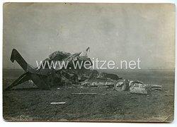 1. Weltkrieg Deutsches Heer Foto, Abgestürztes Flugzeug