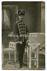 Deutsches Reich Portraitfotoeines Husaren