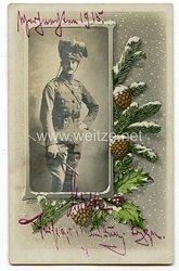 Erster Weltkrieg Fotoeines Offiziers der Husaren 1915