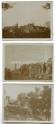 Fotos Erster Weltkrieg, Zerstörte Ortschaften von Valenciennes 1917 (Frankreich)
