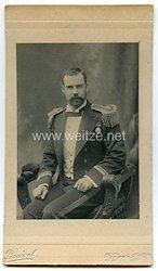 England um 1900 Portraitfotoeines Offiziers mit britischen Marine