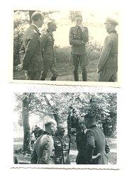 Wehrmacht Heer Fotos, Deutsches Kreuz in Gold Träger GeneralFriedrich Fangohr auf einer Übung 1944