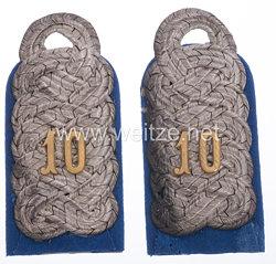 Preußen Paar Schulterstücke für einen Major im Magdeburgischen Husaren-Regiment Nr. 10
