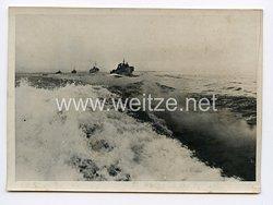 Kriegsmarine Pressefoto: Durch die Winterstürme des Finnischen Meerbusens 30.12.1941