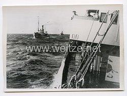 Kriegsmarine Pressefoto: weit draußen liegen die Vorpostenboote 14.3.1941