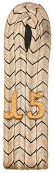 Preußen Einzel Schulterstück für einen Leutnant im Infanterie-Regiment Prinz Friedrich der Niederlande (2. Westfälisches) Nr. 15