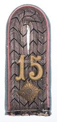 Preußen 1. Weltkrieg Einzel Schulterstück für einen Oberleutnantim 3. Schlesischen Dragoner-Regiment Nr. 15