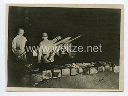 Kriegsmarine Pressefoto: Nächtliche Abwehr unserer Marineartillerie15.6.1942