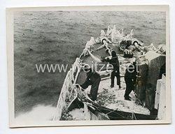 Kriegsmarine Pressefoto: Deutscher Zerstörer im Weißem Meer14.2.1942