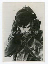 Kriegsmarine Pressefoto: Auf einem Kriegschiff im Winter 12.1.1942