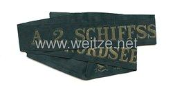 """Reichsmarine Mützenband """"A.2 Schiffsstammdivision der Nordsee A.2"""""""