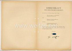 Ehrenblatt des deutschen Heeres - Ausgabe vom 7. Juni 1944