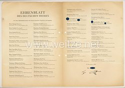 Ehrenblatt des deutschen Heeres - Ausgabe vom 5. November 1944
