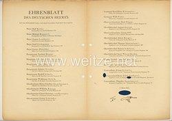 Ehrenblatt des deutschen Heeres - Ausgabe vom 7. März 1944