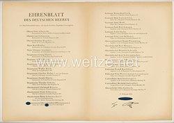 Ehrenblatt des deutschen Heeres - Ausgabe vom 17. Februar 1944