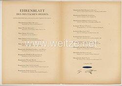 Ehrenblatt des deutschen Heeres - Ausgabe vom 7. Februar 1944