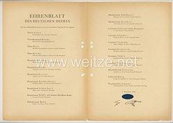 Ehrenblatt des deutschen Heeres - Ausgabe vom 7. Dezember 1943