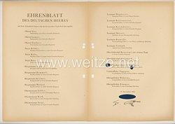 Ehrenblatt des deutschen Heeres - Ausgabe vom 17. November 1943