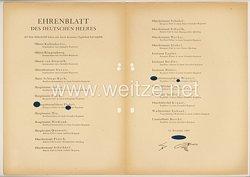Ehrenblatt des deutschen Heeres - Ausgabe vom 15. November 1943