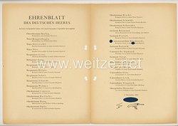 Ehrenblatt des deutschen Heeres - Ausgabe vom 5. November 1943