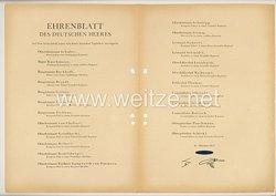 Ehrenblatt des deutschen Heeres - Ausgabe vom 27. Oktober 1943