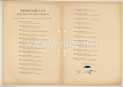 Ehrenblatt des deutschen Heeres - Ausgabe vom 25. Oktober 1943