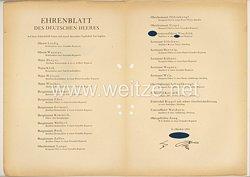 Ehrenblatt des deutschen Heeres - Ausgabe vom 15. Oktober 1943