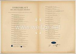 Ehrenblatt des deutschen Heeres - Ausgabe vom 27. September 1943