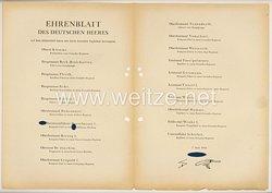 Ehrenblatt des deutschen Heeres - Ausgabe vom 7. Juni 1943