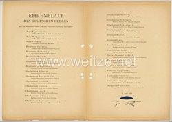 Ehrenblatt des deutschen Heeres - Ausgabe vom 28. April 1943