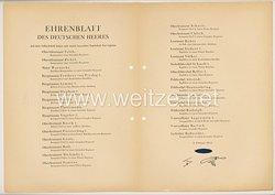 Ehrenblatt des deutschen Heeres - Ausgabe vom 8. Februar 1943