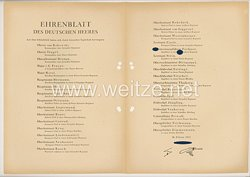 Ehrenblatt des deutschen Heeres - Ausgabe vom 26. Februar 1943